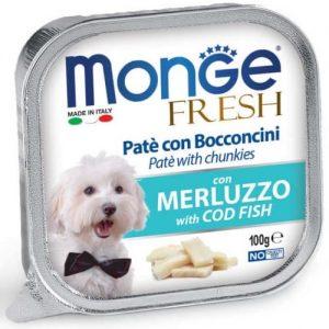 מונג'  MONGE פטה דג בקלה 100 גרם