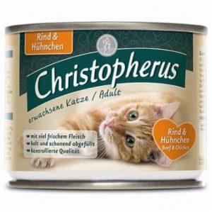 CHRISTOPHERUS מעדן פטע לחתול בקר ועוף 200 גרם