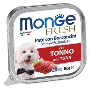 מונג'  MONGE פטה ונתחי טונה 100 גרם