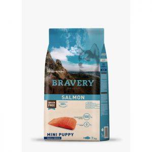 ברייוורי BRAVERY כלבים  -סלמון מיני -גורים 7 קילוגרם