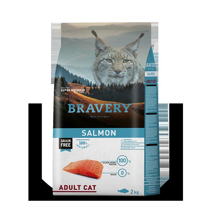 ברייוורי BRAVERY חתולים סלמון 2 קילוגרם