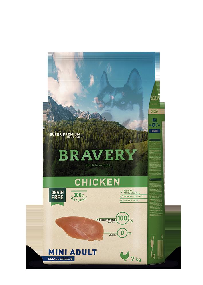 ברייוורי BRAVERY כלב עוף מיני 2 קילוגרם