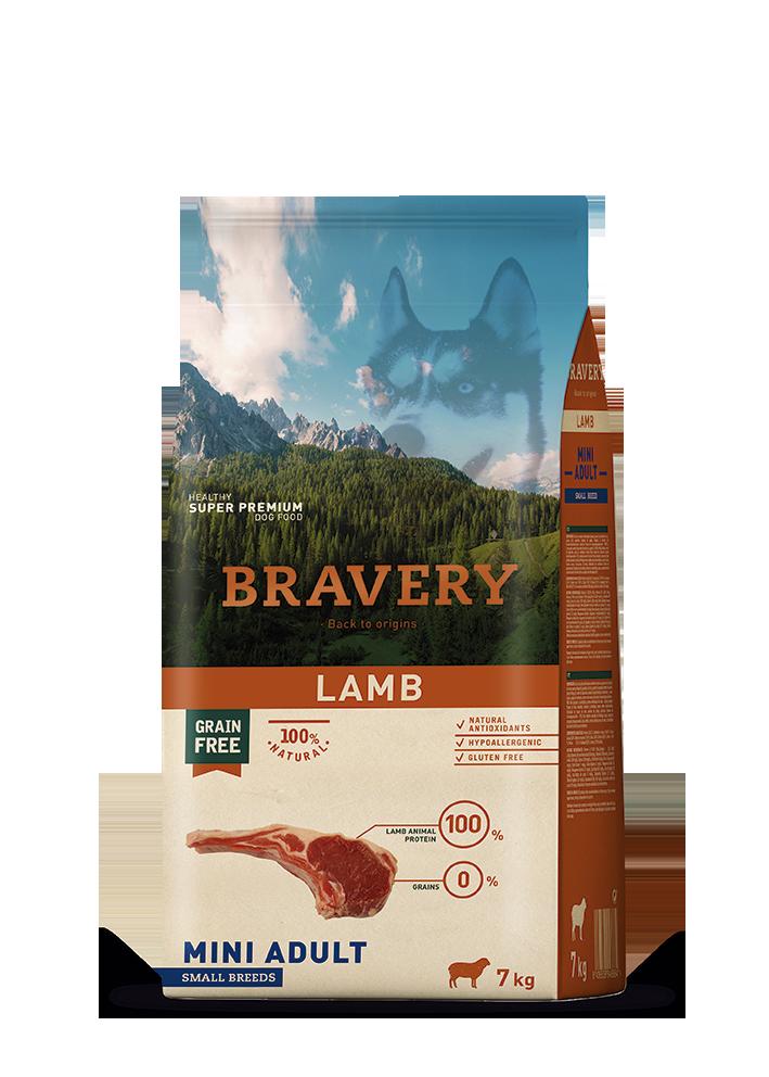 ברייוורי BRAVERY כלב כבש מיני 2 קילוגרם