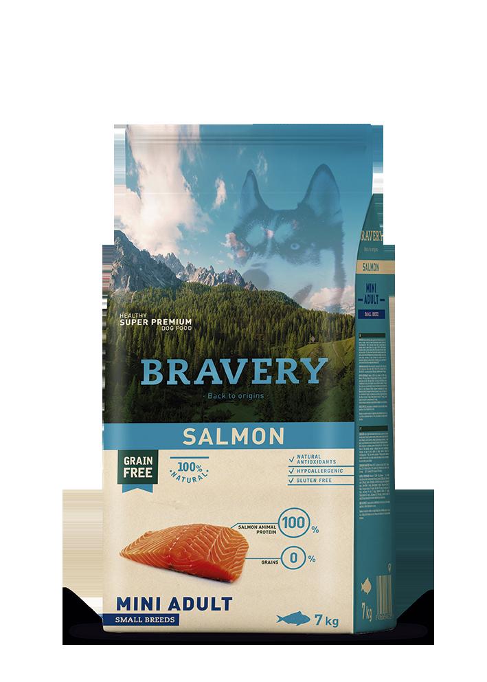 ברייוורי BRAVERY כלב סלמון מיני 2 קילוגרם