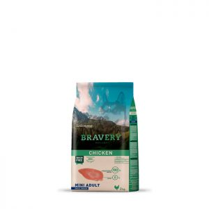 ברייוורי BRAVERY כלבים  -עוף מיני  7 קילוגרם