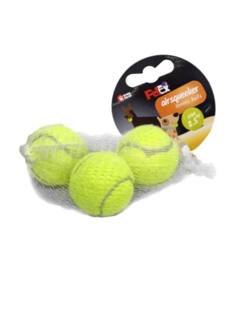 מארז כדורי טניס מצפצף 2.5 אינץ 3 יח