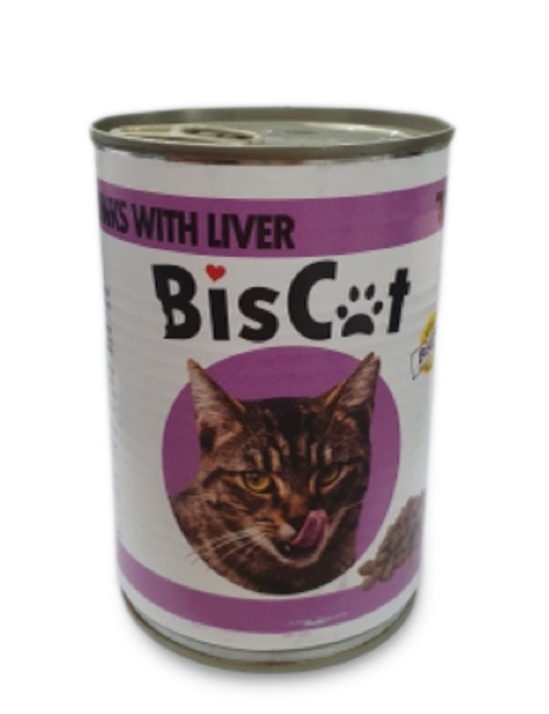 BIS CAT  שימורים לחתול בטעם כבד 415 גרם