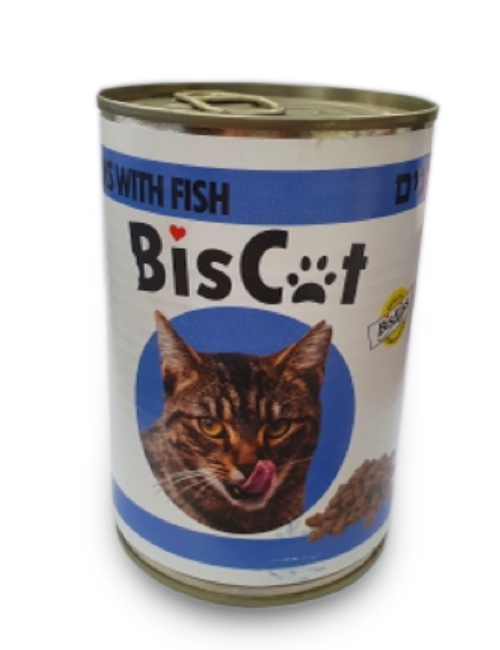 BIS CAT  שימורים לחתול בטעם דגים 415 גרם