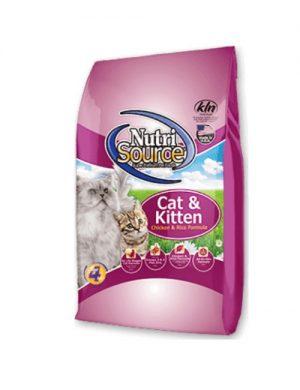 NUTRI SOURCE – עוף CAT & KITTEN 3 קילוגרם