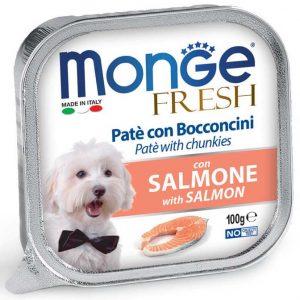 מונג'  MONGE נתחי סלמון 100 גרם