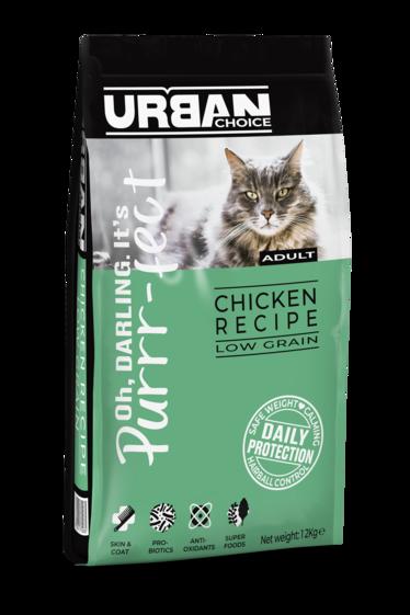 URBAN CHOICE  לחתול בוגר עוף 12 קילוגרם