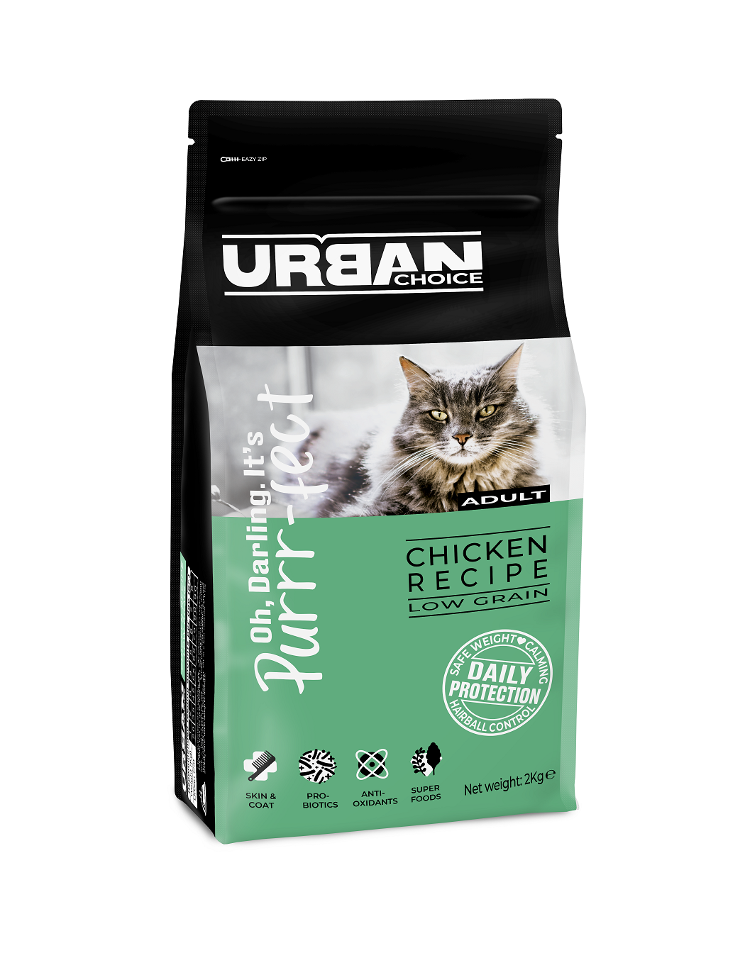 URBAN CHOICE  לחתול בוגר עוף 2 קילוגרם