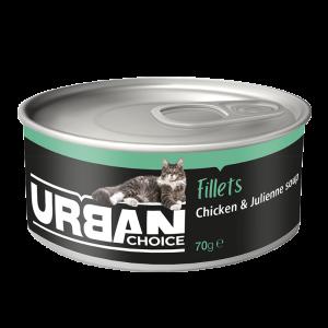 URBAN CHOICE  פילה עוף ומרק 70 גרם