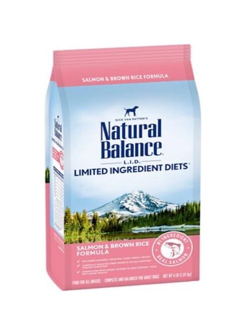 NATURAL BALANCE  סלמון ואורז חום 1.81 קילוגרם