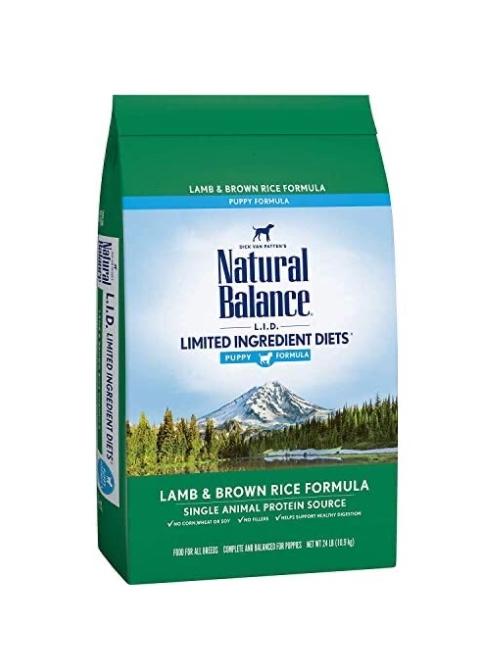NATURAL BALANCE  כבש ואורז חום לגורים 1.81 קילוגרם