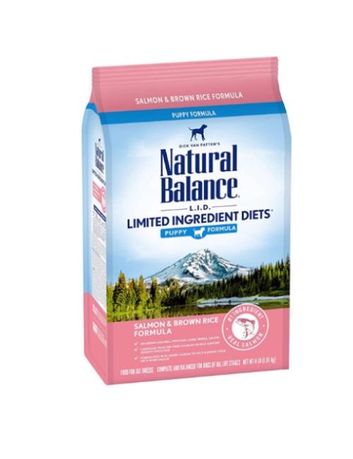 NATURAL BALANCE סלמון ואורז לגורים 10.9 קילוגרם