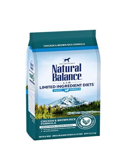 NATURAL BALANCE עוף ואורז לגורים 10.9 קילוגרם