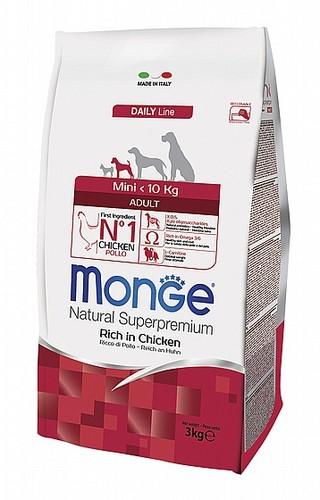 MONGE מונג'  מיני אדולט 3 קילוגרם