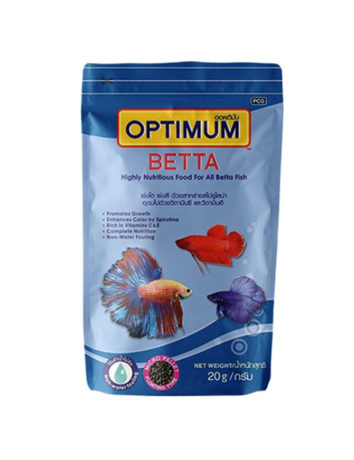 OPTIMUM מזון לדגי קרב -גרגירים קטנים 20 גרם