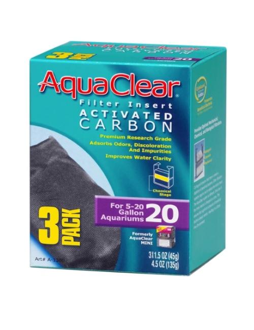 פחם  20  3 יח לאקווריום 18-76 L 45 גרם