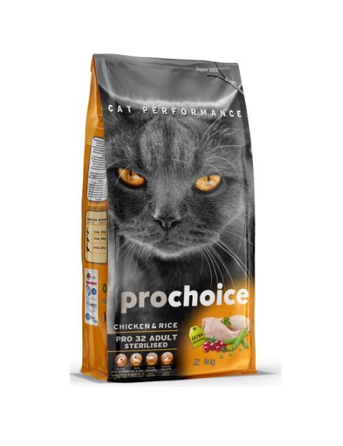 פרוצ'וייס  לחתולים מסורסים – עוף PROCHOICE 15 קילוגרם