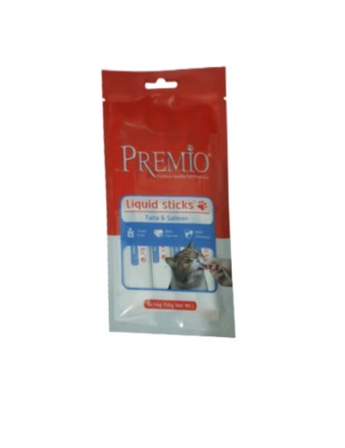 חטיף נוזלי PREMIO טונה וסלמון 56 גרם